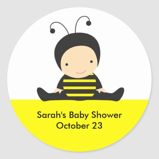Baby Bee Shower Stickers