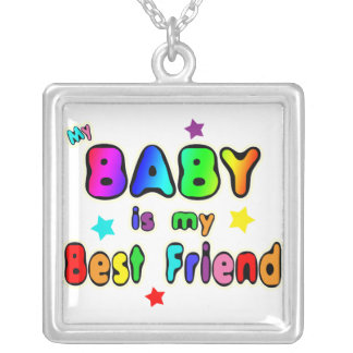 Baby Best Friend Silver Plated Necklace