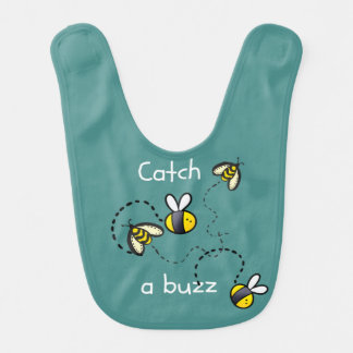 Baby Bib Bumble Bee Design Bees Buzzing Insects