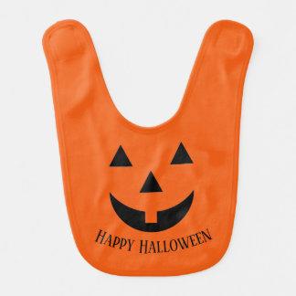 Baby Bib-Halloween Pumpkin Face Bib