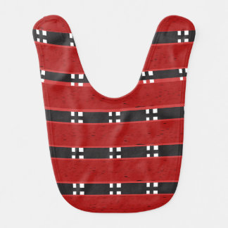 Baby Bib RED/BLACK BARS