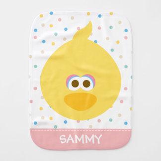 Baby Big Bird   Add Your Name Baby Burp Cloth