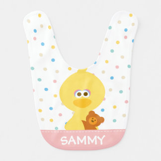 Baby Big Bird and Teddy | Add Your Name Bib