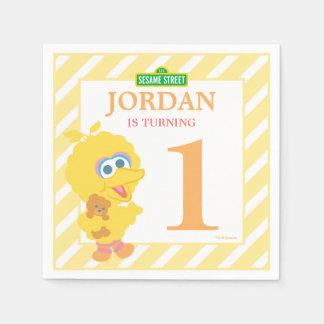 Baby Big Bird Birthday Paper Napkins