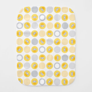 Baby Big Bird Circle Pattern Burp Cloth