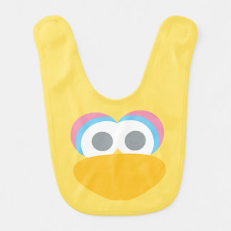 Baby Big Bird Face Shape Pattern Bib