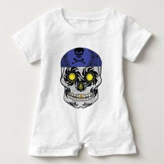 Baby Biker Candy Skull Romper Baby Bodysuit