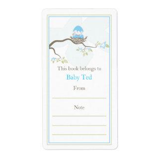 Baby Bird Bookplate