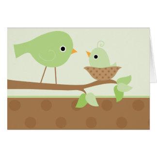 Baby Bird s Nest green Card