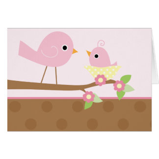 Baby Bird s Nest pink Card