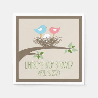 Baby Bird's Nest   Baby Shower Disposable Napkins