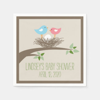 Baby Bird's Nest   Baby Shower Disposable Serviette