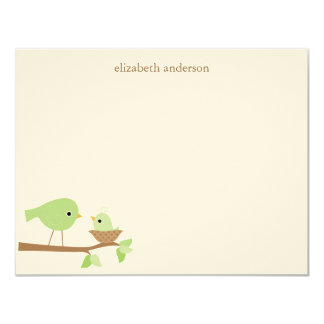 Baby Bird's Nest Baby Shower Thank You 11 Cm X 14 Cm Invitation Card