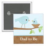 Baby Bird's Nest (blue) Badges