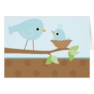 Baby Bird's Nest (blue) Greeting Card