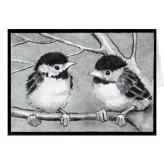BABY BIRDS TALKING/TWEETING CARD