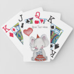 Baby Birthday Elephant Playing Cards