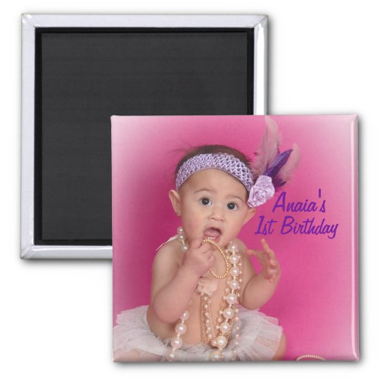 Baby Birthday Photo Magnet