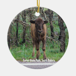 Baby Bison Christmas Ornament