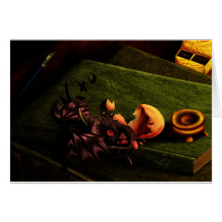 Baby Black-Dragon Greeting Card
