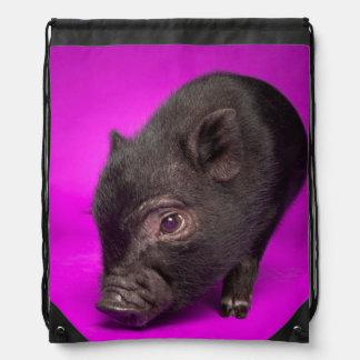 Baby Black Pig Drawstring Bag