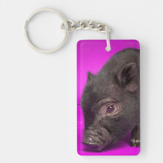Baby Black Pig Key Ring