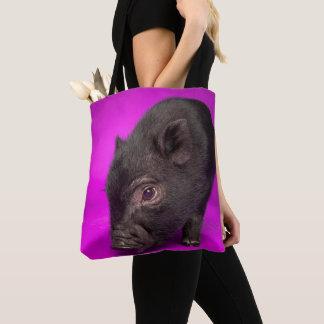 Baby Black Pig Tote Bag