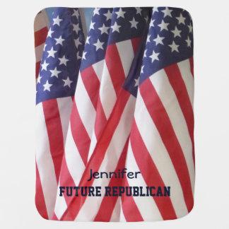 Baby Blanket, American Flags, Future Republican Receiving Blanket