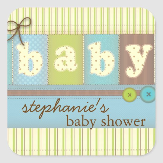 Baby Blanket Cute Quilt Baby Shower Sticker