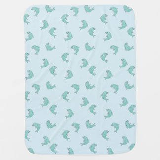 Baby blanket dolphins