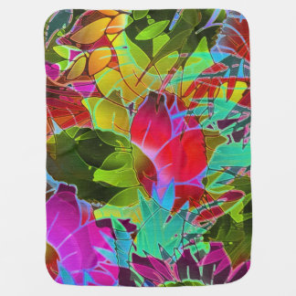 Baby Blanket Floral Abstract Artwork