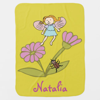 Baby Blanket 'Flower Fairy and Butterflies