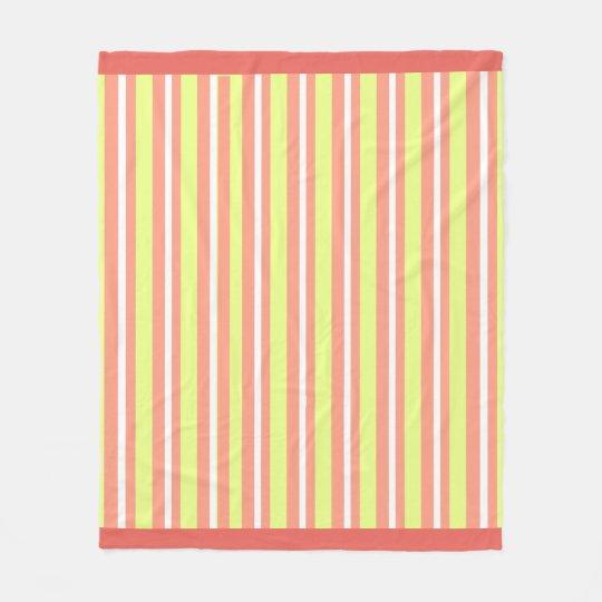 Baby-Blanket--Fun-Stripe's-Peach-Lime_Fleece-M Fleece Blanket
