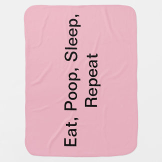 Baby Blanket Pink Eat, Sleep, Poop, Repeat