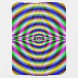 Baby Blanket   Psychedelic Neon Eye