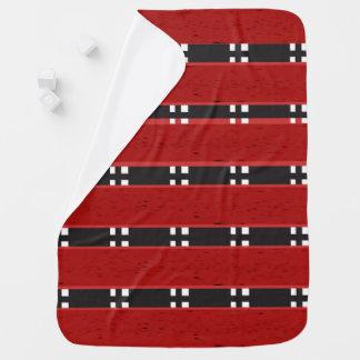 Baby Blanket RED/BLACK BARS