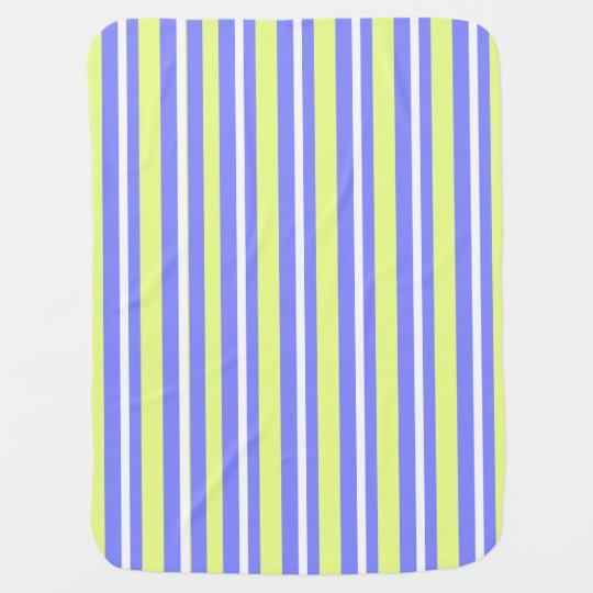 Baby-Blanket-Stylish-Stripes-Lime-Blueberry Baby Blanket