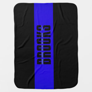BABY Blanket thin blue line police