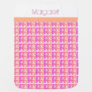Baby-Blanket-Tribal-Kid's-Design's-Sunset-Pink Baby Blanket