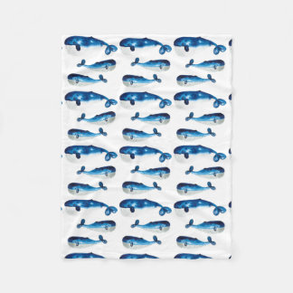 Baby Blanket - Water Colour Blue Whale