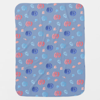 Baby blanket with Chinese lanterns and fireworks