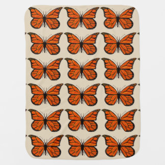 Baby Blanket with Monarch Butterfly Design