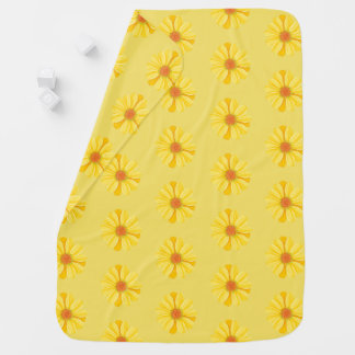 Baby Blanket-Yellow Daisies Baby Blanket