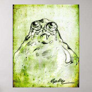 Baby Blob Monster Sketch Poster