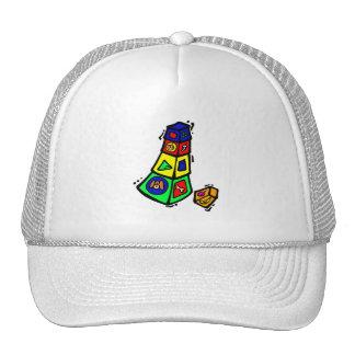 baby block toy graphic square animals mesh hat