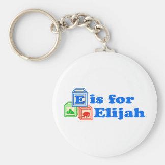 Baby Blocks Elijah Key Ring