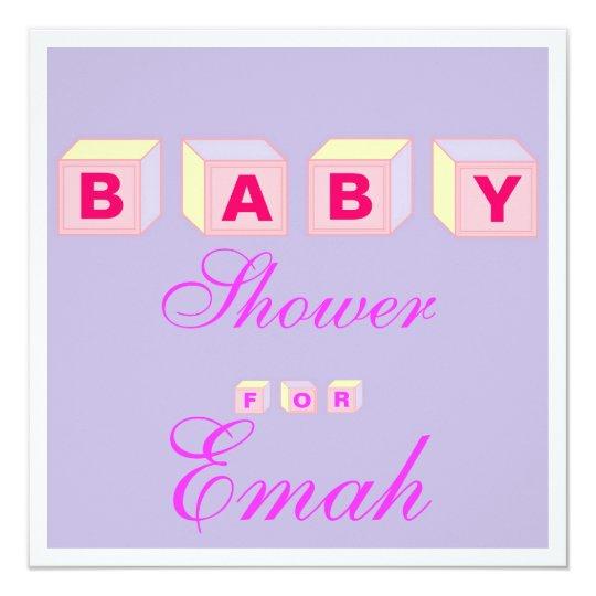 Baby Blocks-girl Card