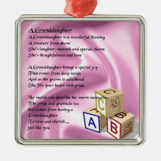 Baby Blocks Granddaughter  poem Christmas Ornament