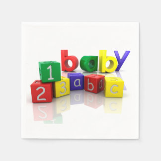 Baby Blocks Paper Napkins