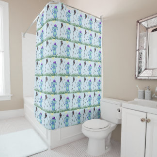 Baby Blu in the Park Shower Curtain